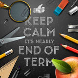 Schools out, end of term Royalty Free Stock Photo