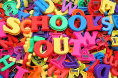 Schools out writing Stock Photo