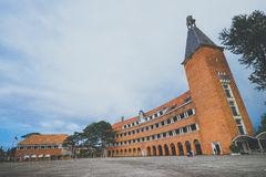 Schools or Teacher College of Dalat. The architecture that considered as one of the most unique architecture of 1000's 20th - century building by the UIA. In Stock Images