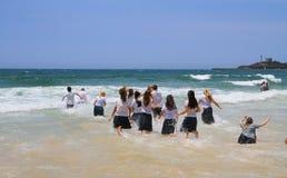 School´s uit! - De Australische manier om te vieren Royalty-vrije Stock Foto's