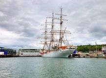 Schoolship Christian Radich in harbour of Sandefjord Stock Images