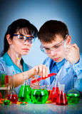 Schoolteacher and student Stock Image