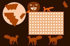 Schooltijdschema Halloween royalty-vrije illustratie
