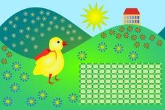 Schooltijdschema met weinig kip vector illustratie