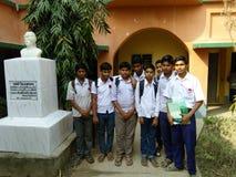 Schoolviering 21 in Februari op onze schoolpichalda Stock Fotografie