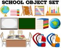 Schoolvoorwerpen en hulpmiddelen Royalty-vrije Stock Fotografie