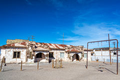Schoolyard in Abandoned Town Royalty Free Stock Photography