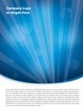 Schoon blauw brochureontwerp Stock Afbeeldingen