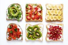 Schoon het Eten Concept Sandwich met organische ingredi?nten stock foto's
