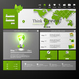 Schoon Modern de Websitemalplaatje van Eco Royalty-vrije Stock Foto's