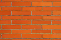 Schoon Oranje Bakstenen muurpatroon Stock Foto