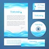 Schoon van het bedrijfs waterconcept stijlmalplaatje Stock Afbeeldingen