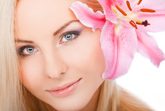Schoon vrouwengezicht Stock Afbeeldingen