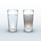 Schoon, vuil water vector illustratie