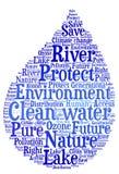 Schoon water - Milieubescherming en waterbehoud stock illustratie