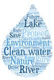 Schoon water - Milieubescherming en waterbehoud royalty-vrije illustratie