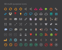 88 schoon Web, Mobiele en Diverse Pictogrammen Royalty-vrije Stock Afbeelding