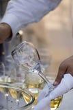 Schoon wijnglas royalty-vrije stock fotografie