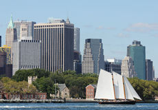 Schooner America 2.0 in New York Harbor Stock Photography