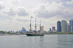 Schooner Appledore on Lake Michigan Royalty Free Stock Images