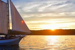 Schooner Ardelle in Gloucester Harbor, Massachusetts royalty free stock photos