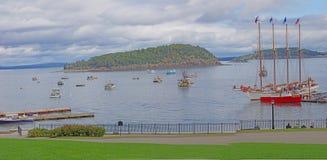 The schooner 'Margaret Todd' disembarks passengers Royalty Free Stock Photo