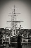 Schooner. Old Schooner restored ready to set sail Stock Photography