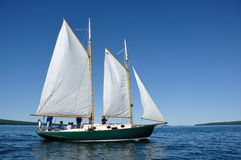 Schooner Sailboat Sailing on Lake Superior Royalty Free Stock Photo