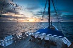 Schooner Sailing in Indonesia Stock Image