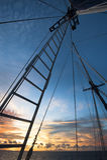 Schooner Sailing in Indonesia Stock Photo