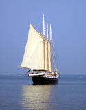 Schooner at Sea. A schooner sailing Royalty Free Stock Images