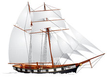 Schooner under sail Royalty Free Stock Photos