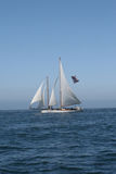 Schooner under sail in San Diego 6952 Royalty Free Stock Photography
