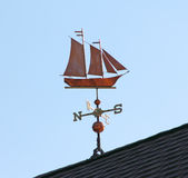 Schooner Weather Vane Stock Images