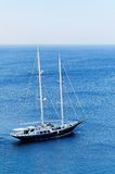 Schooner yacht in blue sea Royalty Free Stock Photography