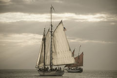 Schooners. Sailing in Key West Royalty Free Stock Images