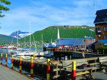 Schooners, boats, boats on the pier. Norway. summer 2012 Royalty Free Stock Photos