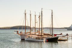 Schooners at Pier Royalty Free Stock Photo