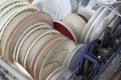 Schoongemaakt dishware stock afbeeldingen