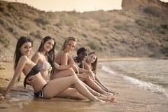 Schoonheden op het strand royalty-vrije stock afbeeldingen