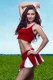 Schoonheid cheerleader Royalty-vrije Stock Afbeeldingen