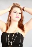 Schoonheid die van jonge vrouw wordt geschoten Stock Fotografie