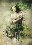 Schoonheid in een Muur Royalty-vrije Stock Fotografie