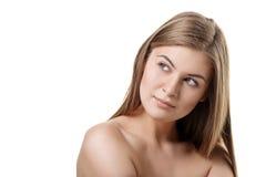 Schoonheid en gezondheid van jonge vrouw Stock Foto