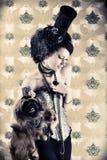 Schoonheid en hond Royalty-vrije Stock Foto's