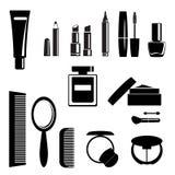 Schoonheid en make-upsymbolen - vector Stock Afbeeldingen
