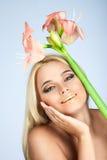 Schoonheid en tederheid in vrouwen Stock Afbeelding