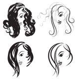 Schoonheid-gezichten Royalty-vrije Stock Fotografie