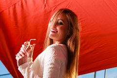Schoonheid het glimlachen vrouwenportret royalty-vrije stock foto's