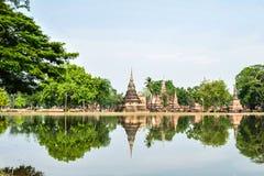 Schoonheid in het Historische Park van Sukhothai Stock Foto's